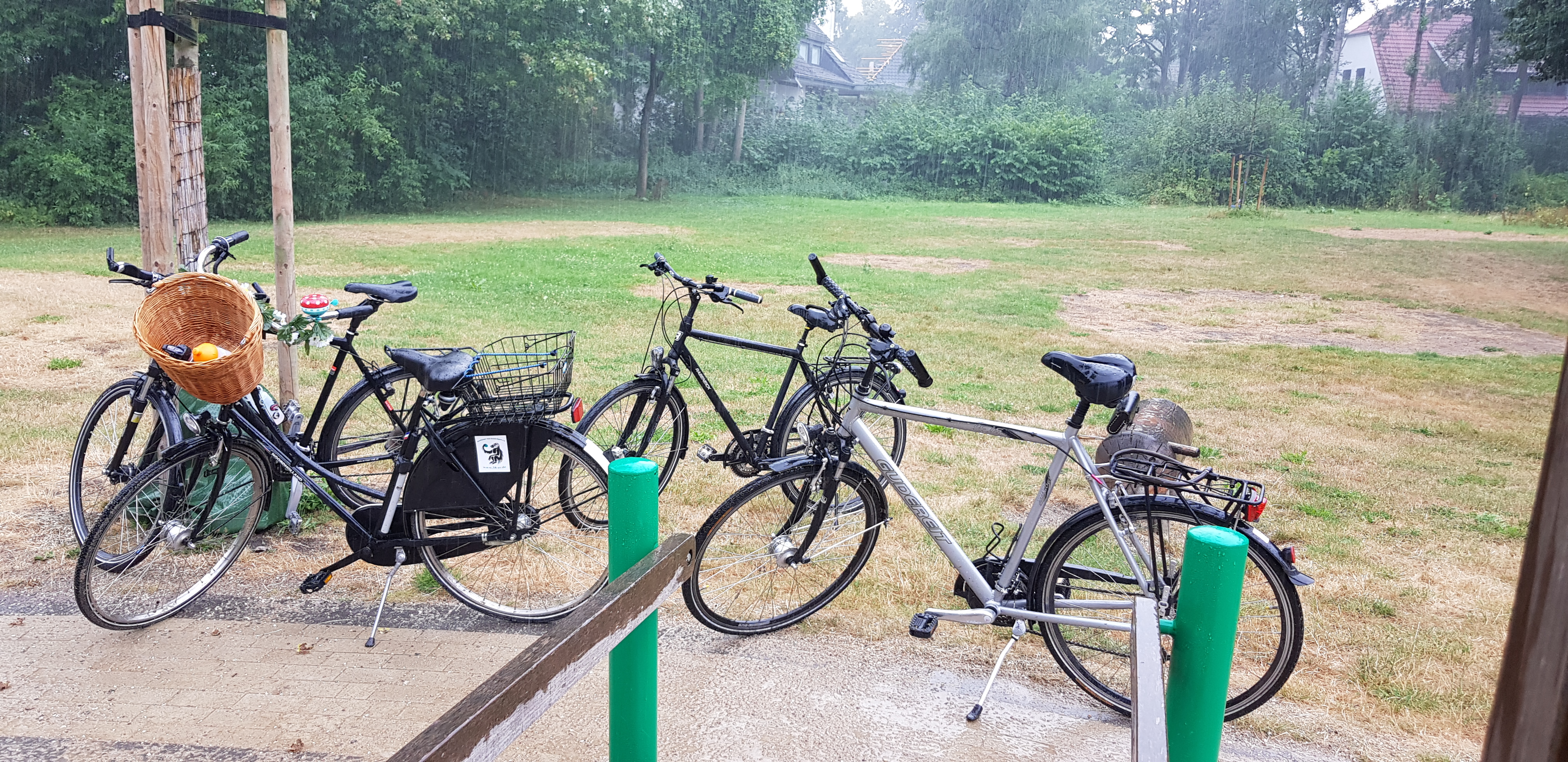 Fahrräderauf der Radtour der Gesellschaft 1938